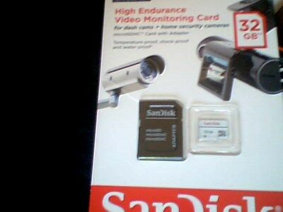 SanDisk 32GB Class 10 High Endurance Video Monitoring Micro SDHC Memory Card