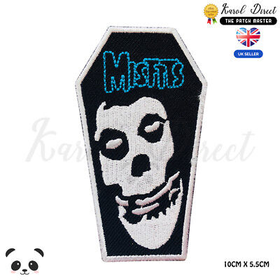 Misfits Music Band Embroidered Iron On Sew On PatchBadge For Clothes Shoes etc