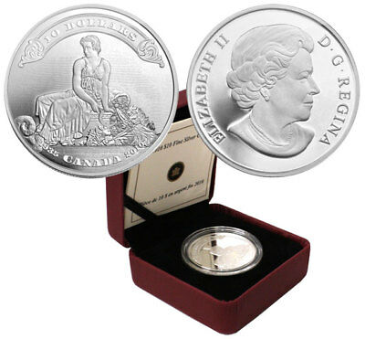 Canada 2010 $10 75th Anniversary of the First Bank Notes Silver Coin