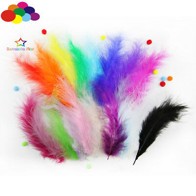 100 Pcs Fantasy Macarons Colors Turkey Feathers Diy Fluff Dream Catcher Material