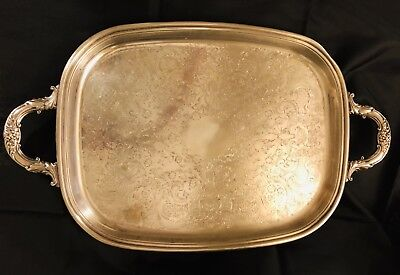 HOLIDAY READY - Vintage Silver Plated Serving Tray 18x14