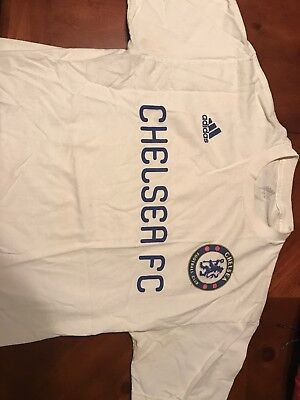 55506657576964 Adidas Chelsea FC Performance Go To Tee Men s Sz Large White T-Shirt Soccer