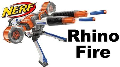 Nerf N-Strike Rhino-Fire Blaster with 50 Elite Darts Kids Toy Gun Play Set Gift
