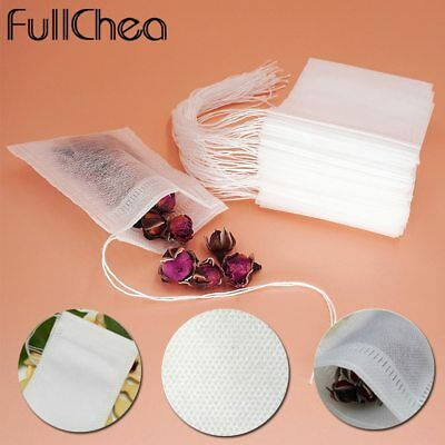 100Pcs Tea Bags With String Heal Seal Sachet Filter Empty Teabags 5.5x7cm