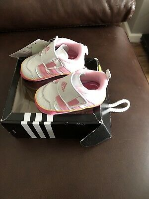 Baby Girls Pink Adidas Trainers Size UK 0