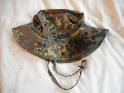 GENUINE issue RARE GERMAN ARMY flecktarn tarn camo BUSH BOONIE JUNGLE HAT ksk M