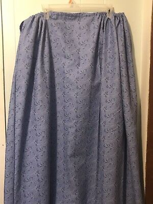 Colonial Civil War 18th Century Drawstring Petticoat Skirt With Removeable Sash