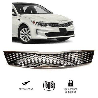 For Kia Optima Front Grille Chrome Trim Gloss Black Grill Years 2016 To 2018