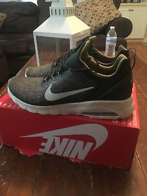 New Mens Nike Air Max Motion Racer Sequoia/ Light Bone/ Green Size 12