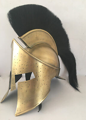 Medieval 300 Movie Spartan King Leonidas Solid Brass Helmet Greek Gift Replica