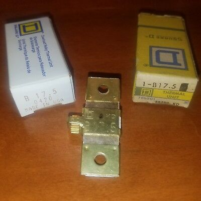 Square D Overload Relay Thermal Unit Type: B 17.5 ~ New, Old Stock ~ Lot of 3