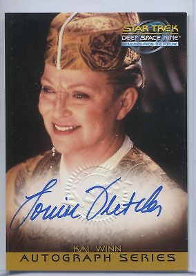 Lot of 3 Star Trek Deep Space 9 and Voyager autograph cards - Fletcher,Alaimo, R