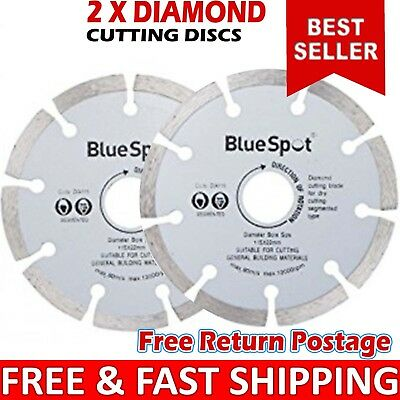 2X Thin 115mm 4.5'' Diamond Tile Dry Cutting Disc Angle Grinder Discs