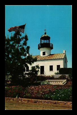 Dr Jim Stamps Us Lighthouse Point Loma Cabrillo San Diego California Postcard