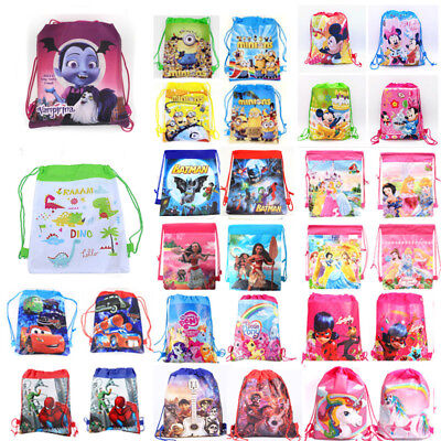 Boys Girls Children Drawstring Backpack PE Cartoon Swimming Party Bag Beach Bag