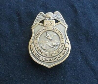 US Fish and Wildlife Service Game Management Agent Warden Badge - Reproduction