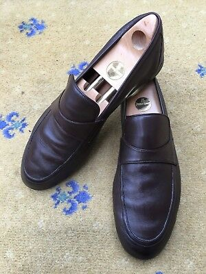 923f721e9f5a G-265 MENS GUCCI Driving Shoes   Buckle Loafers   Brown   Size 44 US ...