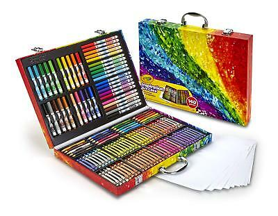 Kids Teens Art Crafts Tools 140 Pieces Crayons Colored Pencils Markers Gift Set