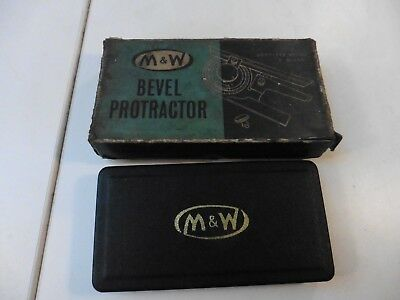 Moore & Wright No.996A  Bevel Protractor - Boxed and Cased