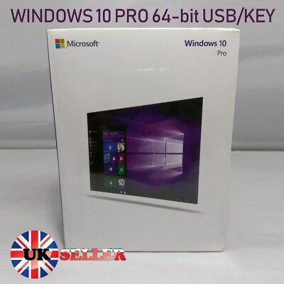 Original Genuine Windows 10 Pro Professional USB With Product Licence Key 64bit