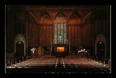 Dr Jim Stamps Us Interior View Chicago Temple Church Topical Postcard