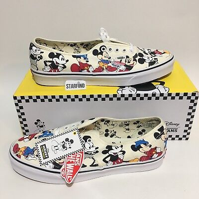 2bbc9013 Vans Disney Mickey's 90th Birthday Authentic Mens 13 Shoes SOLD OUT New wBox
