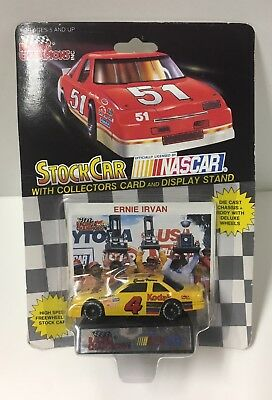 Racing Champions 1:64 Scale NASCAR #4 Ernie Irvan Stock Race Car/Card & Stand