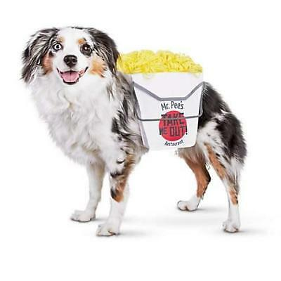 Bootique Dog Costume L/XL Take Me Out Mr. Pee's Restaurant Oyster Pail Container