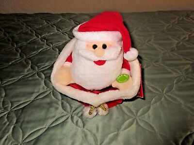 Christmas Be Jolly Plush Animated Talking Santa & Peek A Boo  NWT