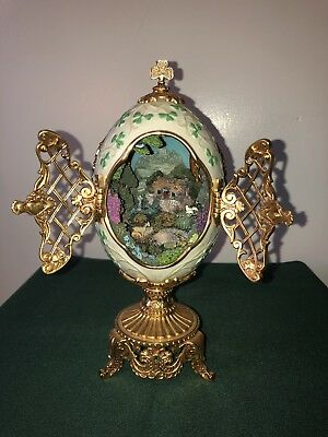 Franklin Mint House of Faberge THE EMERALD ISLE Collector Egg Limited Edition