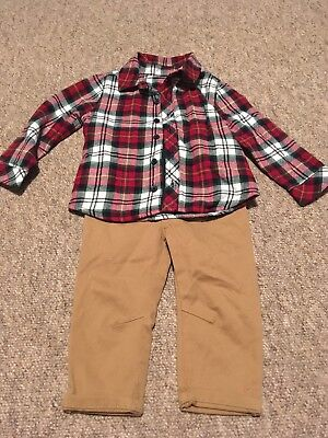 Baby Shirt And Trousers 12-18 Months