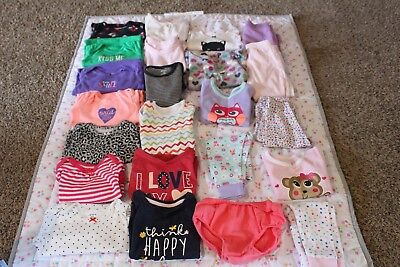 baby girl clothes lot 12 months mixed brands some new & gently used