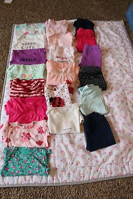 lot of 6 month baby girl clothes mixed brand gently used and some new