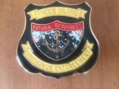 Rhode Island Game Warden Natural Resources Specialty LE Vehicle Emblem