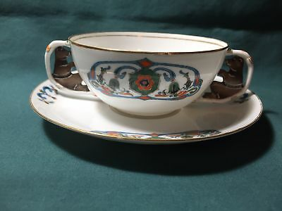 Kornilow Bros. Kornilov Brothers Russian Porcelain Bear Cup Saucer Russia China
