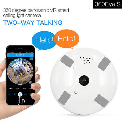 1080P 360° IP Camera WiFi Wireless Security Camera HD Night Vision Remote Contro
