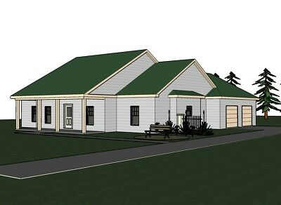 20X20 HOUSE-- 601 sq ft -- PDF Floor Plan -- Model 4B - $29 99