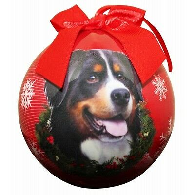 Bernese Mountain Dog Shatterproof Ball Dog Christmas Ornament