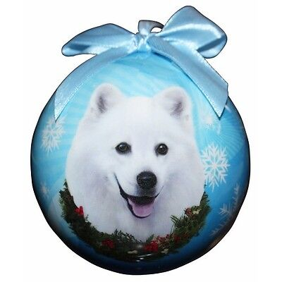 American Eskimo Shatterproof Ball Dog Christmas Ornament