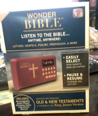 Wonder Bible  The Talking King James Bible Audio Player - As Seen On TV NEW