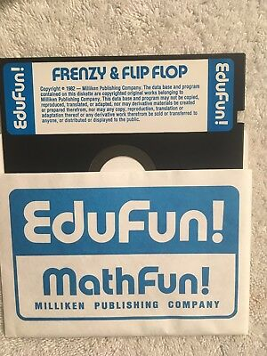 Atari ;frenzy & ; Flip Flop ; 5 1/4 Floppy Disc ; With Manual And Card