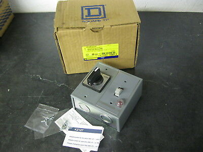 SQUARE D 2510FG71P FHP MANUAL STARTER w/ HAND OFF AUTO HOA SELECTOR SWITCH SER C
