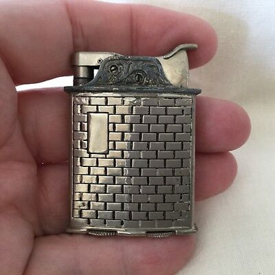 EVANS LIGHTER -ROLLING REAR— Heavy decorated steel (?) dual design!  See pics!