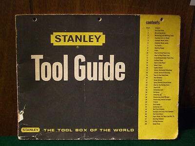 Vintage Stanley Tool Guide Copyright 1968 – 1972 edition