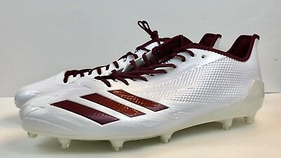 check out 29473 d55c4  110 Adidas Adizero 5-Star Men s Sz 15 Football Cleats White Maroon BW1084
