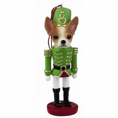 Chihuahua Tan Dog Toy Soldier Nutcracker Christmas Ornament