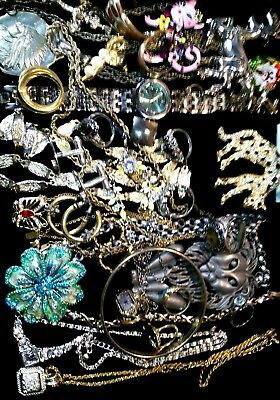 HUGE Vintage & Now Jewelry Lot Estate Find Junk Drawer UNSEARCHED UNTESTED#LION$