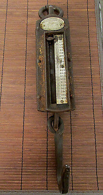 ANTIQUE CHATILLON Hanging Spring Scales 0-400lb Heavy Duty IRON CLAD Model RB36