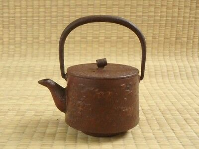 Iron kettle / TETSUBIN / NANBU Teapot / Lid / Tea ceremony / Japanese Vtg / u60