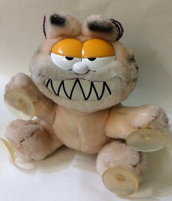 1978 Vintage Garfield Plush Doll w/ Suction Cups for Car Window